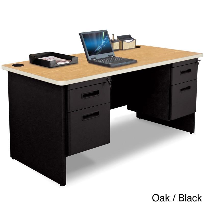 Marvel 60 inch Double Pedestal Steel Desk Overstock