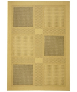 Safavieh Indoor/ Outdoor Lakeview Natural/ Blue Rug (5'3 x 7'7)