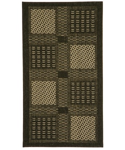 Indoor/ Outdoor Lakeview Black/ Sand Rug (2' x 3'7)