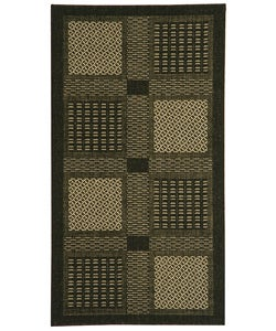 Safavieh Indoor/ Outdoor Lakeview Black/ Sand Rug (2'7 x 5)