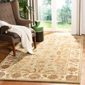 Handmade Heritage Kerman Green/ Gold Wool Rug (4' x 6')