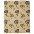 Handmade Iris Ivory New Zealand Wool Rug (8' x 10')
