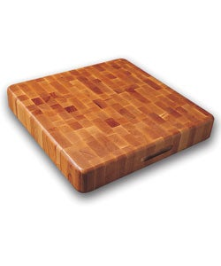 Slab End Grain Cutting Board w/ Finger Grooves