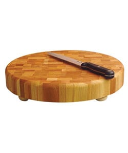 14-inch Round Slab Cutting Board w/ Feet