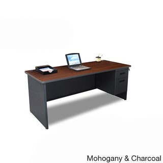 Marvel 72-inch Single Pedestal Steel Desk