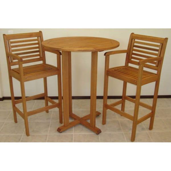 Mikonos Barset Table and 2 Barstools