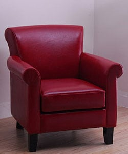 Cosmopolitan Burnt Red Leather Arm Chair