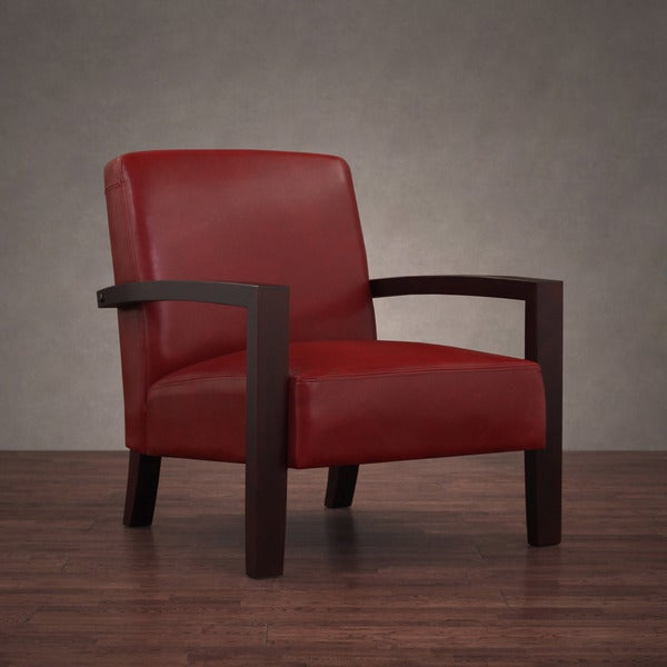 Roadster Burnt Red Leather Lounge Chair