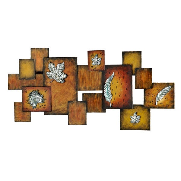Abstract Leaves Panel Wall Art