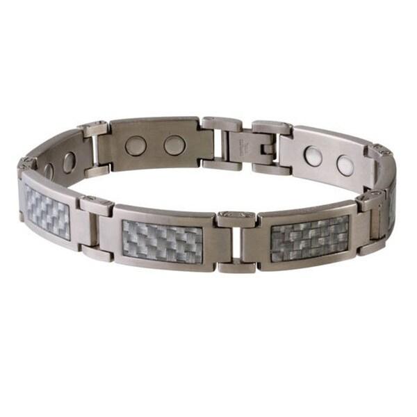 Sabona Grey Magnetic Steel and Carbon Fiber Bracelet