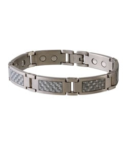 Sabona Grey Magnetic Steel and Carbon Fiber Bracelet