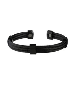 Sabona Trio Cable Black and Black Magnetic Bracelet