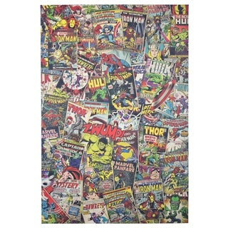 American Art Decor Licensed Marvel Avengers Collage Canvas Wall Art - multi-color