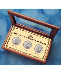 American Coin Treasures 1921 Last Year Morgan Silver Dollar Mint Mark Set