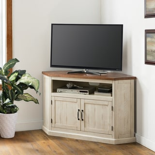 The Gray Barn Danebury Rustic 50-inch Solid Wood Corner TV Stand