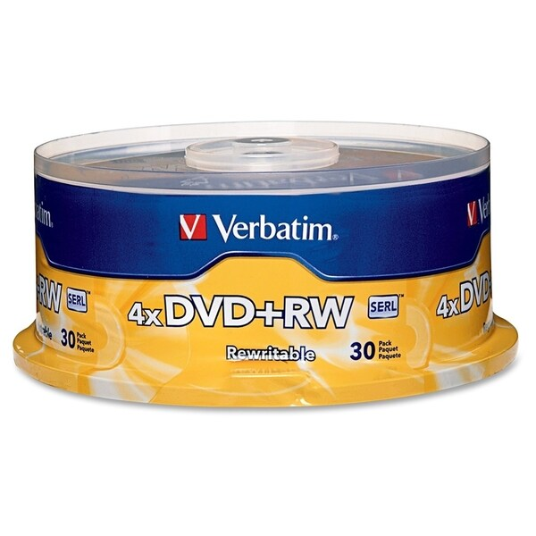 Verbatim DVD+RW 4.7GB 4X with Branded Surface - 30pk Spindle - TAA Co