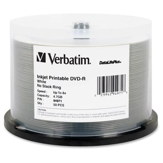 Verbatim DataLifePlus 94971 DVD Recordable Media - DVD-R - 8x - 4.70