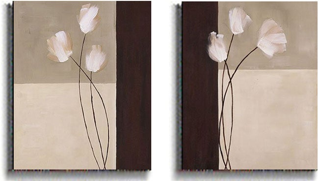 K. Parker Floral Whispers 2-piece Stretched Canvas Set