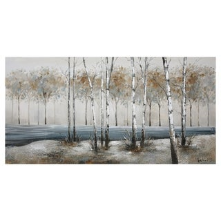 Yosemite Home Décor Birch Alley Original Handpainted Mixed Media Wall Art - Multi-color