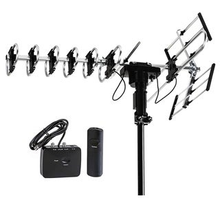 FiveStar Outdoor HD TV Antenna 2019 Newest Model Up to 200 Miles Range with Motorized 360 Degree Rotation, no kit included