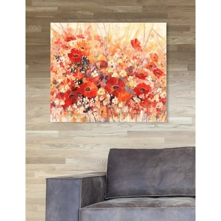 Oliver Gal 'Sai - Red Floral' Floral and Botanical Wall Art Canvas Print - Orange
