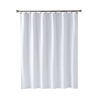 SKL Home Large Basketweave Shower Curtain in White