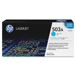 HP 503A (Q7581A) Cyan Original LaserJet Toner Cartridge