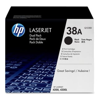 HP 38A (Q1338D) 2-pack Black Original LaserJet Toner Cartridges