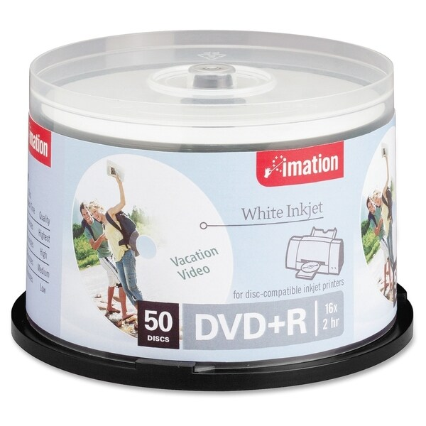 Imation DVD Recordable Media - DVD+R - 16x - 4.70 GB - 50 Pack