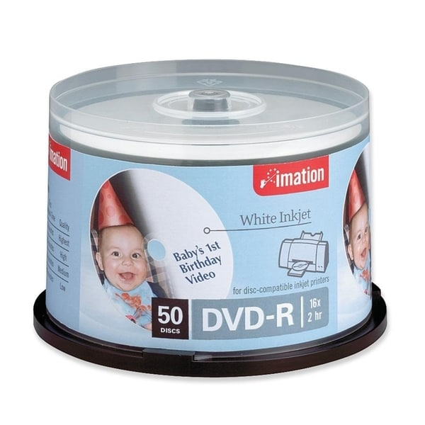 Imation DVD Recordable Media - DVD-R - 16x - 4.70 GB - 50 Pack Spindl