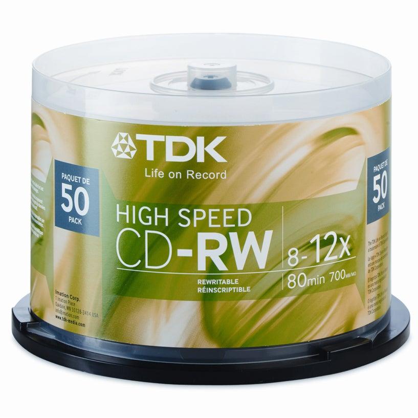 TDK 12x CD-RW High Speed Media - 700MB - 120mm Standard