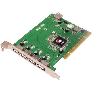 SIIG 5-port PCI host adapter with 4 external & 1 internal Hi-Speed US