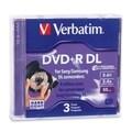 Verbatim 95313 DVD Recordable Media - DVD+R DL - 2.4x - 2.60 GB - 3 P