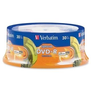 Verbatim 95339 DVD Recordable Media - DVD-R - 16x - 4.70 GB - 30 Pack