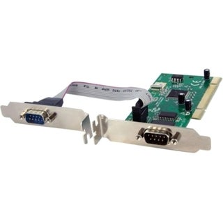 StarTech.com 2 Port PCI RS232 Serial Adapter Card w/ 16950 UART - Dua