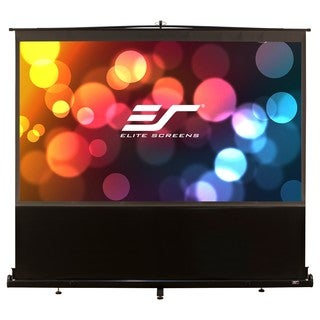 Elite Screens F80NWH ezCinema Portable Floor Set Manual Projection Sc