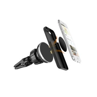 Insten Universal Air Vent Magnetic Car Mount Holder w/Twist Lock Rotatable&Joint Black