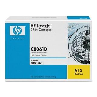 HP 61X (C8061D) 2-pack High Yield Black Original LaserJet Toner Cartr