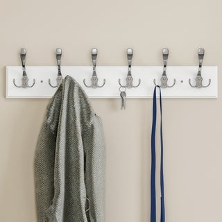 Porch & Den Marcus 6-hook Rail-Mounted Hanging Wall Rack