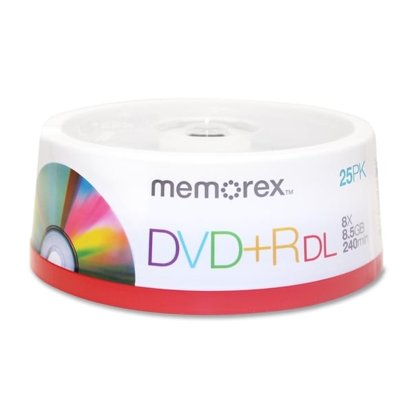 Memorex 05712 DVD Recordable Media - DVD+R DL - 8x - 8.50 GB - 15 Pac