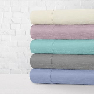 Heather Jersey Knit 4-Piece Bed Sheet Set