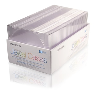 Memorex SLIM CD CASES - Book Fold - Plastic - Clear - 1 CD/DVD