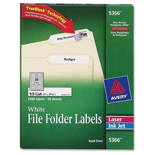 Avery Filing Label
