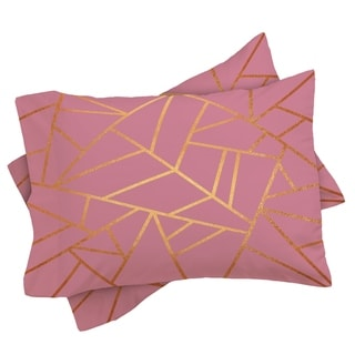 Deny Designs Pink and Amber Geometric Pillow Shams