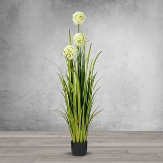 5 Feet High Artificial Reed with Decorative Flowers Crystal - Black