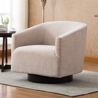Copper Grove Pregrada Wood-base Swivel Chair