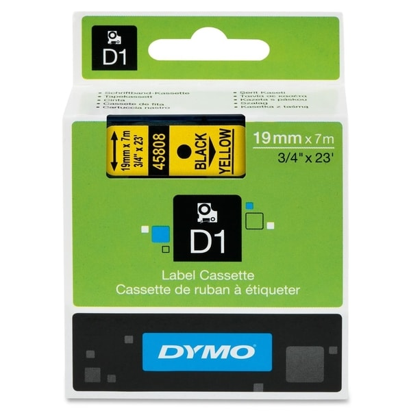 Dymo Black on Yellow D1 Label Tape