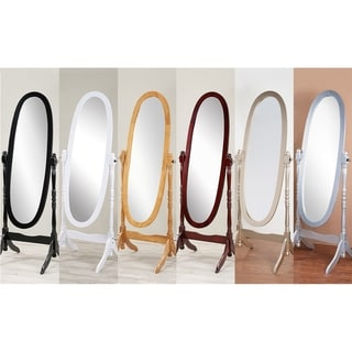 GTU Furniture Ocassional, Charming Traditional, Romantic, Adjustable Cheval Mirror, Finished Wood, Double Stretcher Base, Espejo