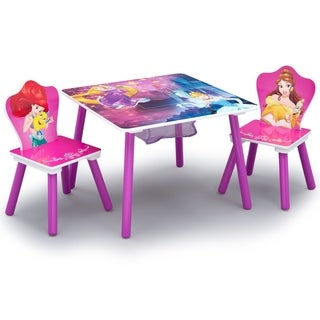 Disney Princess Table and Chair Set with Storage