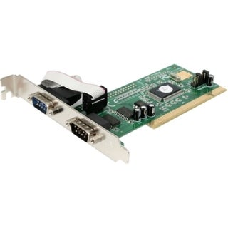 StarTech.com 2 Port PCI RS232 Serial Adapter Card with 16550 UART